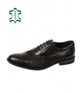 Černé  pánské boty 607 - Paolo Gianni