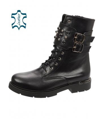 Černé workery s černými perlami DKO063