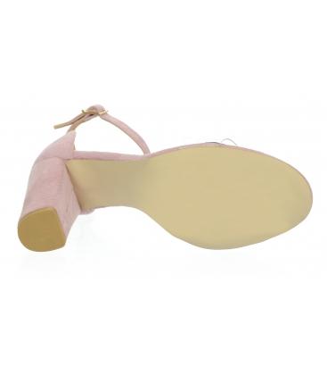Bledě růžové dámské sandály s průsvitným lemem DSA2050-1347