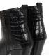 Černé kožené kozačky western s kroko vzorem DKO4487