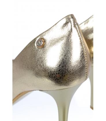 Zlaté elegantní kožené lodičky DLO944-861