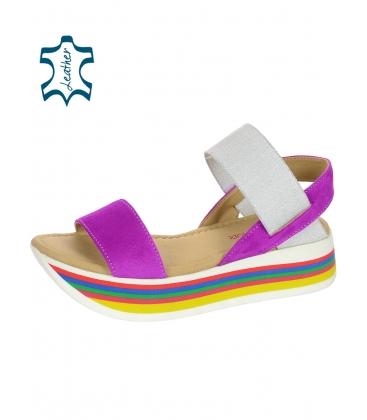 Barevné sandály na barevné podešvi DSA3080