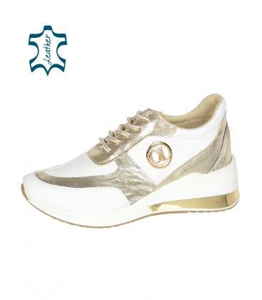 Bílo-zlaté tenisky na podešvi KAMILA DTE3063 lam