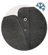 Černé pohodlné kotníkové kozačky s ozdobným páskem OL 3206