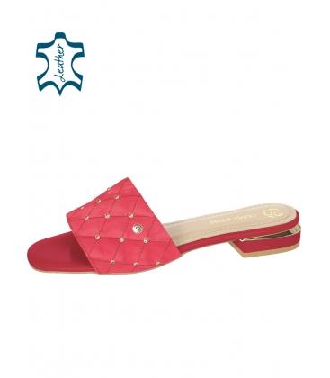 Fuxiové pantofle s jemným prošívaným svrškem DSL2206