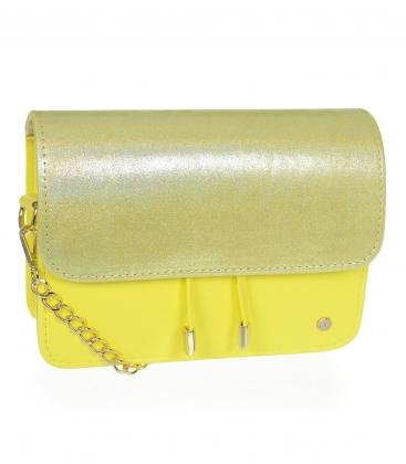 Béžovo-zlatá kabelka s kroko vzorem BOBI