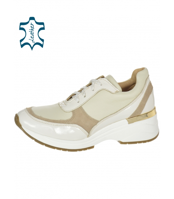 Béžové jednoduché tenisky na podešvi Tamira DTE3307