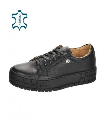 Černé jednoduché tenisky na černé podešvi HANZA DTE3402