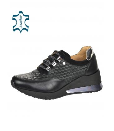 Černé stylové tenisky s proplétaným 3D vzorem DTE2118